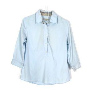 Burberry Blue Popover Shirt